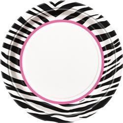 Zebra Passion Party Plates x 8 9""