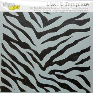 Zebra Print 12 x 12