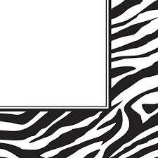 Zebra Print Lunch Napkins