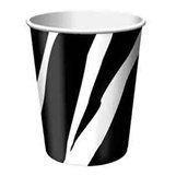 Zebra Print Party Cups x 8