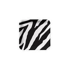 Zebra Print Square Plates