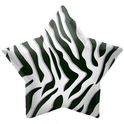 "Zebra Stripes 22"" Foil Balloon"