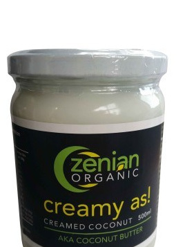 Zenian Organic Creamed Coconut 500ml