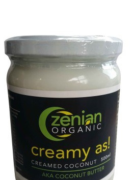 Zenian Organic Creamed Coconut - 500ml