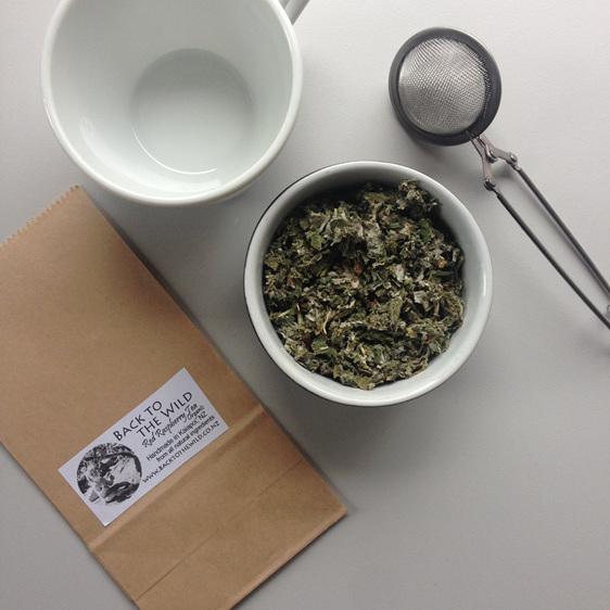 Zero waste red raspberry leaf tea compostable loose leaf nz