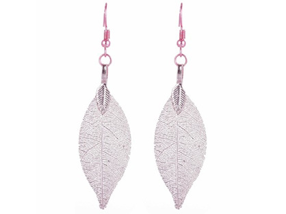 Zizu Blush Pink Leaf Earrings