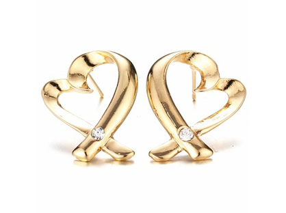 Zizu Gold Love & Kisses Earrings