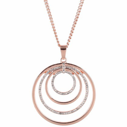 Zizu Rose Gold 4 Ring Necklace