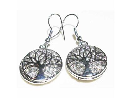 Zizu Silver Tree Of Life Earrings