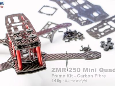 ZMR 250 Mini Quad Frame Kit - Carbon Fibre