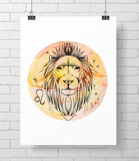 Zodiac Prints - Leo
