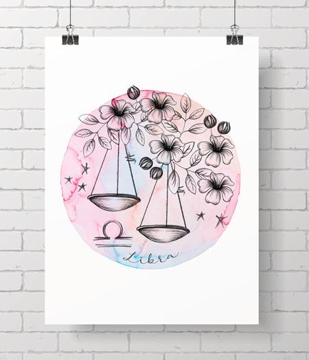 Zodiac Prints - Libra
