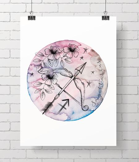 Zodiac Prints - Sagittarius