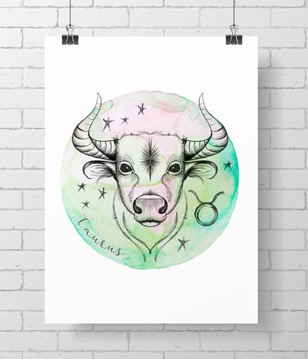 Zodiac Prints - Taurus