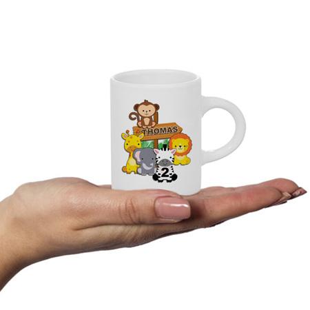Zoo Animals Personalised Fluffy Mug