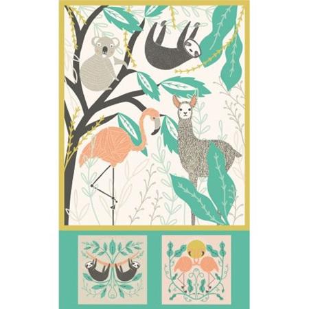 Zoology Baby Blanket Panel 48301-11